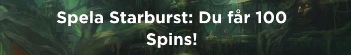 100 free spins på spela