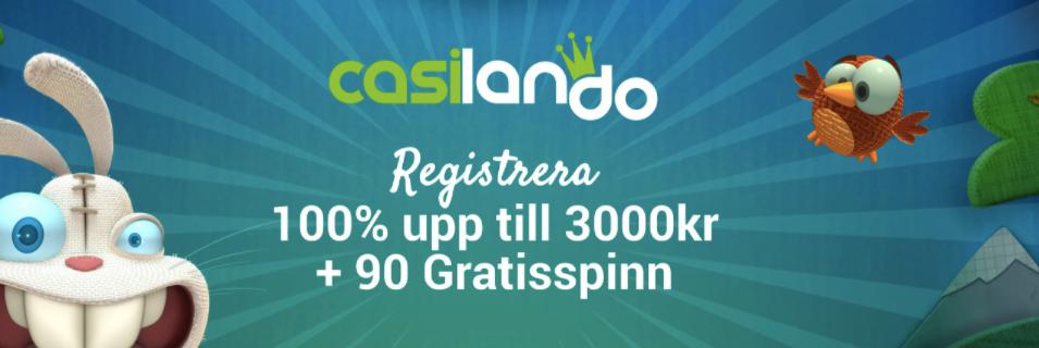 Casilando   100  upp till 3000kr - Casilando