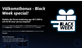 Black Friday Bonus hos Snabbare Casino