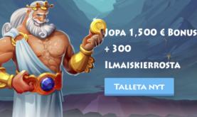 Sukella jumalten valtakuntaan ja lunasta 1500€ bonus