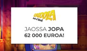 62 000€ jaossa joka viikko!