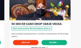 50 000 kronor kontantvinster varje vecka hos Ninja Casino!