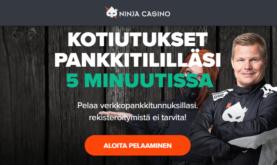 Ninja Casino parhaimpien nettikasinoiden kärkipaikalla