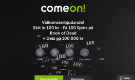 Kort 100 000 kronors kampanj hos ComeOn!