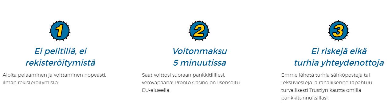 pronto casino pelaa ilman tiliä casinorella - Pronto Casino